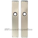 FSB langschilden aluminium rechthoekig zonder sleutelgat 1410 F-2