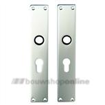 FSB langschilden aluminium rechthoekig met cilindergat 55mm 1410 pz F-2