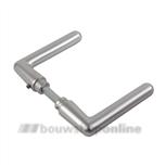 AMI Archi-design 362 deurkrukken L- rond eind aluminium F-1-mat