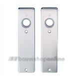 Hoppe kortschilden aluminium rechthoekig zonder sleutelgat 202kp-ug F-1