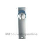 Hoppe knopschild aluminium rechthoekig zonder sleutelgat 40/202kp F-1