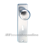 Hoppe knopschild aluminium rechthoekig sleutelgat 56 mm 40/202kp F-1