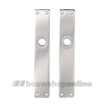 Hoppe langschilden aluminium rechthoekig zonder sleutelgat 202-ug F-1