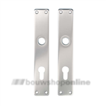 Hoppe langschild aluminium rechthoekig cilindergat 72 mm 202-pz F-1