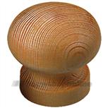 Ferraro meubelknop grenenhout 30 mm rond flauwe bol 11200