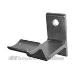 Hermeta leuninghouder aluminium F-1 bandmodel met gat 3543-01