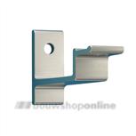 Hermeta leuninghouder aluminium F-2 universeel met gat 3541-02