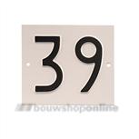 Besbo huisnummerplaat 39 old