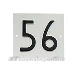 Besbo huisnummerplaat 56 old