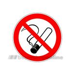 verbodsticker200 rond10 rokende sigaret 800217