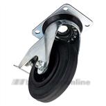 Zwenkwiel rubber 100 met rem 201102126500