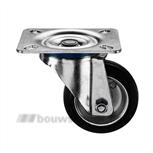 Zwenkwiel rubberstaal 80 mm 202082126000