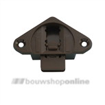 Ziehl schuifdeurgeleider 30 mm in-opbouw 1454 bruin