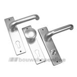 AMI 386 Rotaveer 178/43 + stift 8 x 100 deurkruk op schild zonder sleutelgat F-1