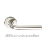 Linox Basic LB-III 16 mm deurkruk op rozet RVS zonder sleutelgat