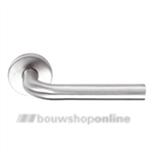 Linox Basic LB-III 19 mm deurkruk op rozet RVS zonder sleutelgat