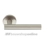 Linox Basic LBVII 19 mm deurkruk op rozet RVS zonder sleutelgat