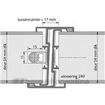 ferno-tec deurnaaldprofielen type 240 2315 mm vnemef 600-u20kv (deurdikte 40mm) brandwerend draairichting 2
