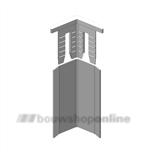 AluArt hoekbeschermer eindkapje 25x25 grijs