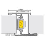 alprokon deurnaaldprofielen 600-u20 2.45 met kantschuiven 40554086 (deurdikte 40mm)