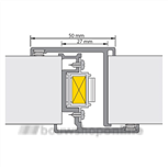 alprokon deurnaaldprofielen 600-u20 2.85 met kantschuiven 40554086 (deurdikte 40mm)
