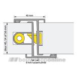 alprokon deurnaald inbraakwerend 54.7-a-552 2450 mm (deurdikte 54mm) krukbediend
