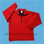 Sibex fleece trui rood 30.406 M