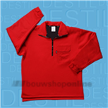 Sibex fleece trui rood 30.406 XXXL