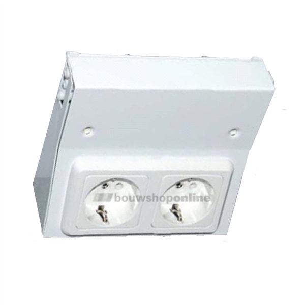 Keuken Stopcontact Onderbouw : Berma TL-keukenverlichting onderbouw stopcontact dubbel