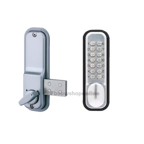 Codelocks 100sg1200sfdomotica opbouw codeslot met nachtschoot.mat zilverkleurig cijfercodeslot bedoeld voor ...